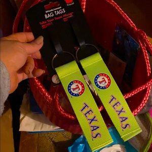 MLB RANGERS Neon Bag Tags